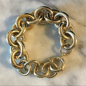 Huge Gold Chain Link Bracelet